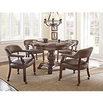 Good Steve Silver Company Tournament Dining And Game Table, Brown Good Looking