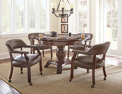 (Steve Silver Company Tournament Dining and Game Table, Brown)