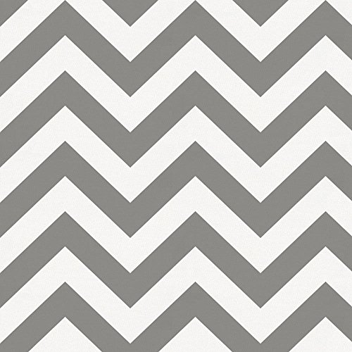 Carousel Designs White and Gray Zig Zag Fabric by The Yard - Organic 100% Cotton