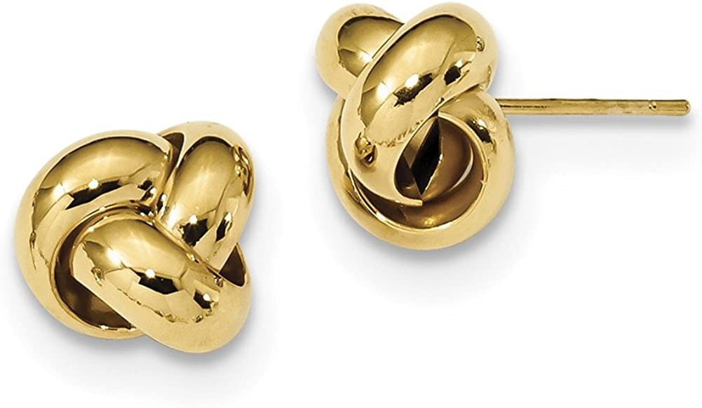 Lex /& Lu 14k Yellow Gold Polished Love Knot Post Earrings LAL119152