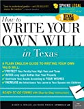 Write Your Own Texas Will, Karen Ann Rolcik and Mark Warda, 1572485132