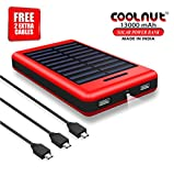 COOLNUT Solar Power Bank 13000mAh,Solar Charger for Mobile,iPhone,iPad,Samsung,HTC and More [ Free 2 Extra Micro USB Cable ]