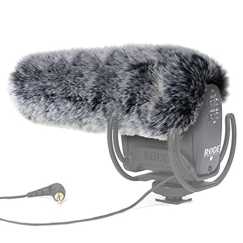 YOUSHARES Microphone Deadcat Windscreen - Outdoor Wind Shield Mic Windshield Muff Fur Custom Fit for Rode VideoMic Pro Camera Microphone ()