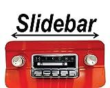 mustang car clock - 1964-1966 Mustang 300 watt Slidebar AM FM Car Stereo/Radio with iPod Docking Cable