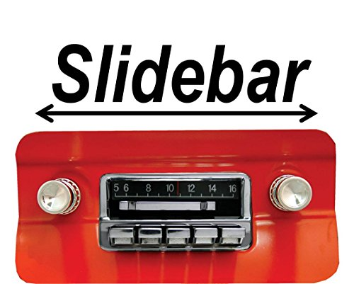 1964-1966 Mustang 300 watt Slidebar AM FM Car Stereo/Radio with iPod Docking Cable