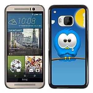 All Phone Most Case / Hard PC Metal piece Shell Slim Cover Protective Case Carcasa Funda Caso de protección para HTC One M9 Sad Cartoon Character Blue Monster Cute Art
