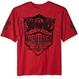 Southpole Men's Big and Tall Short Sleeve Flock and Screen Graphic Tee, Red, 4XB