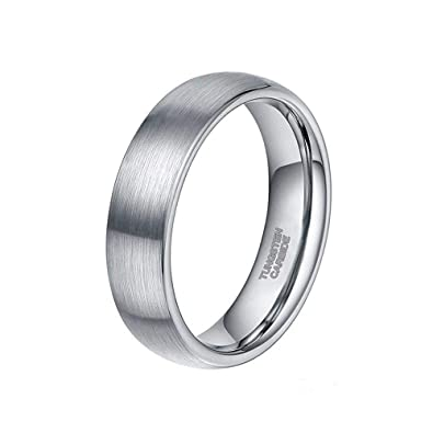 2971912b2b ELGNT Designs 6mm Silver Brushed Tungsten Mens Wedding Ring Band | Mens  Wedding Band | Engagement