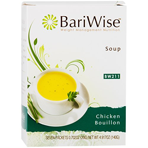 BariWise High Protein Low-Carb Diet Soup Mix - Low Calorie, Fat Free Chicken Bouillon (7 Count)…