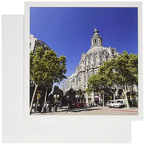 3dRose Passeig De Gracia Barcelona Spain EU27 SPI0122 Sergio Pitamitz Greeting Cards, Set of 12 (Sergio Rose)