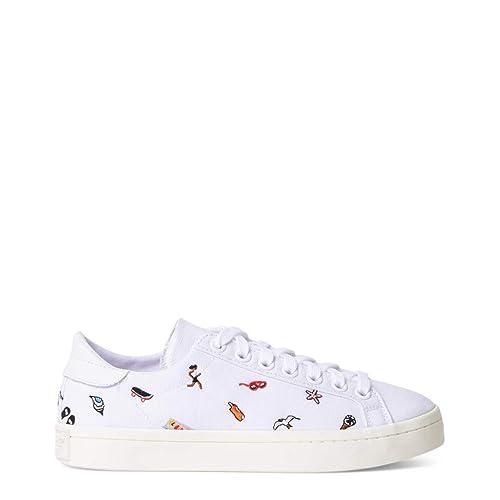 adidas Court Vantage Damen Sneakers Weiß: : Schuhe