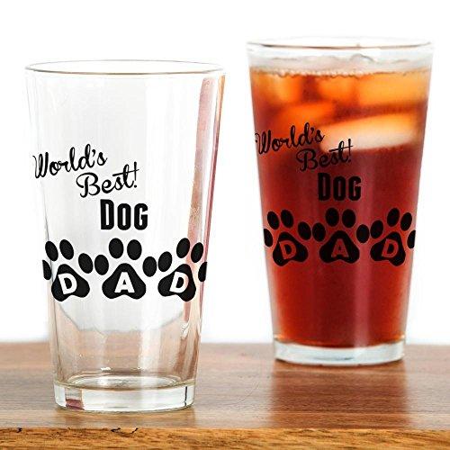 CafePress Worlds Best Dog Dad Pint Glass, 16 oz. Drinking Glass