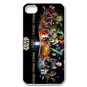 Fashionable Star Wars Design Sublimation Printed Personalized Case Cover for iPhone 4/iPhone 4s _White 30307