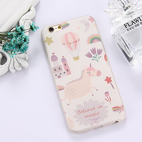 Phone Case & Hülle Für iPhone 6 & 6s TPU bereifte prägeartige Tulpe-Mädchen-Muster-schützende Fall-rückseitige Abdeckung ( Size : Ip6g5303g )
