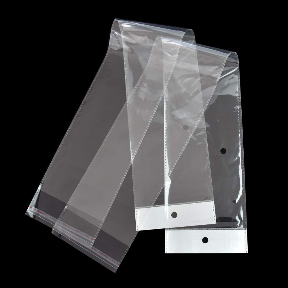 100 Pequeña Plástico Holgado Transparente Bolsas Empuñadura Autosellable