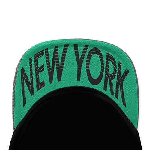 de hombre Schwarz York New Snapback Gorra Grau para béisbol Original HwZqU1q