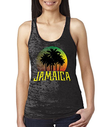 WOMENS Jamaica Coconut Burnout Racerback