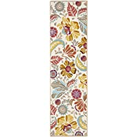 Safavieh Four Seasons Collection FRS475A Hand-Hooked Ivory and Grey Indoor/ Outdoor Runner (23 x 6)