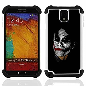 - Joker/ H??brido 3in1 Deluxe Impreso duro Soft Alto Impacto caja de la armadura Defender - SHIMIN CAO - For Samsung Galaxy Note3 N9000 N9008V N9009