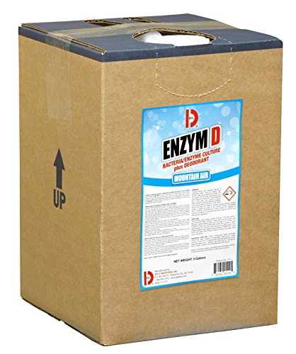 Big D 5510 Enzym D Digester Deodorant, Mountain Air Fragrance, 5 Gallon Pail - Breaks down organic waste and destroys odors - Ideal for use on urine in restrooms and carpet