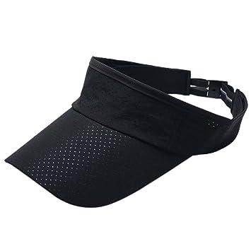 Rowentauk Unisex Visor Sun Hats Outdoor Hat Running Tennis Golf Sun Visors  Cap Adjustable Cap 1f70ea32c0ea