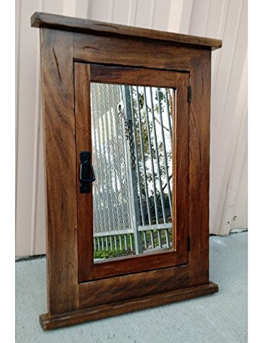 Primitive Mission Recessed Medicine Cabinet / Rustic / Solid Wood & handmade by D&E Wood Craft Cabinets (Image #3)