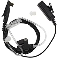 KENMAX 3 2-Wire Covert Acoustic Tube FBI Earpiece Headset with PTT Mic for Multi-PIN Motorola GP338+ GP388:EX500 GL200