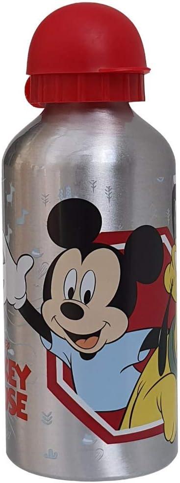 553-63230 CARTOON GROUP Borraccia in Alluminio Mickey Mouse Disney Topolino con BECCUCCIO E Coperchio 500 ML