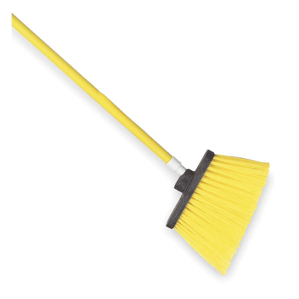 TOUGH GUY Yellow 12'' Polypropylene Angle Broom