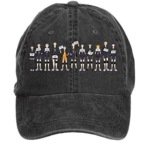 Tommery Unisex Haikyuu Team Hip Hop Baseball Caps