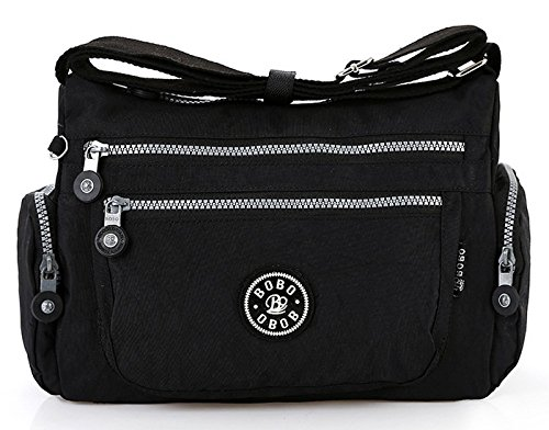 Body rain Gfm Resistant Nylon Or Bag Everyday 2 32kl Holidays Style Use Casual Cross Black For Shower qEEXrg