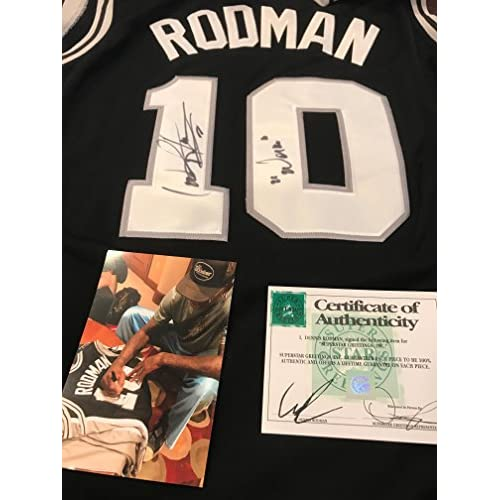 00561e980 Autographed Dennis Rodman San Antonio Spurs jersey Inscribed the worm SSG  Certified from a Private Signing