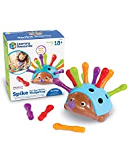 Learning Resources Spike The Fine Motor Hedgehog, Sensory, Fine Motor Toy, Ages 18+mths, 14 pieces