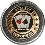 Hand Painted Poker Card Guard Protector - Bullets