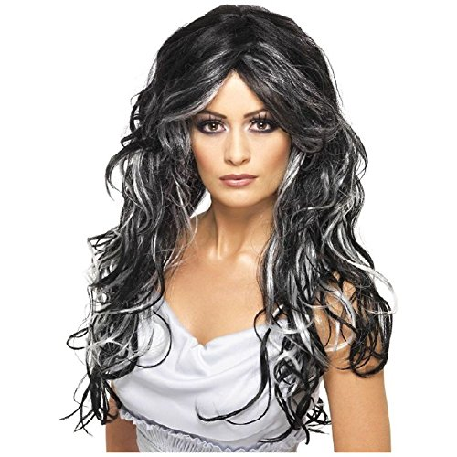 Gothic Bride Wig Costume Accessory Adult (Gothic Porcelain Doll Costume)
