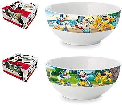 Tazón bowl ceramica desayuno en caja regalo de Mickey Mouse: Amazon.es: Hogar
