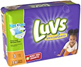 Health & Personal Care : Luvs Ultra Leakguards Diapers - Size 3-34 ct