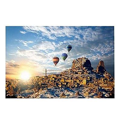 Black Temptation Fire Balloon Travel Puzzle In Legno Resistente Per Bambiniadulti 300 Pezzi