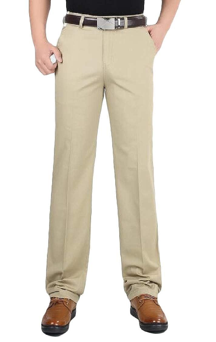 pipigo Mens Classical Straight Leg Thin Trousers Business Loose Pants