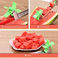Corer Xcross 20 Pieces Watermelon Fruit Vegetable Slicer // Cutter for Children Melon Knife