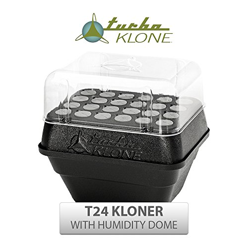 TurboKlone T24D Aeroponic Cloning System with 24 Site Kloners and Humidity Dome