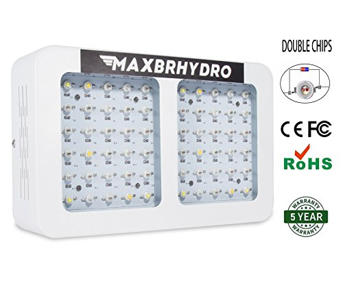 600W LED Grow Lights 12-band Full Spectrum Plant Growing Light with UV/IR for Veg and Flower by MAXBRHYDRO