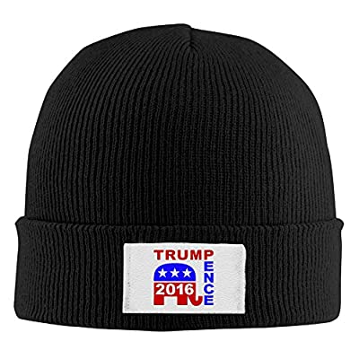 Unisex Acrylic Knitted Beanie Hat Trump Pence For President 2016 Skull Cap In 4 Colors
