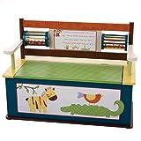 Wildkin Jungle Jingle Toy Box Bench
