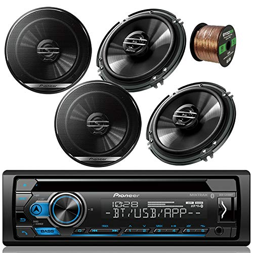 Pioneer DEH-S4100BT Car Bluetooth Radio USB AUX CD Player Receiver - Bundle Combo with 4X Pioneer TSG1620F 6.5