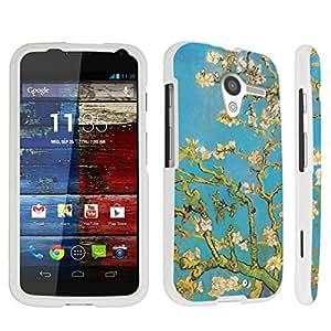 Zheng case Motorola Moto X (2013 Released, 1st Gen) Hard Case White - (Blossoming Almond Tree)