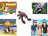 Children's Gift Bundle - Ages 3-5 [5 Piece] - Shrek Forever After Memory Game - Ravensburger Panda Family 200 Piece Puzzle Toy - Ty Beanie Babies - Stinger the Scorpion - Walter the Farting Dog: Ban