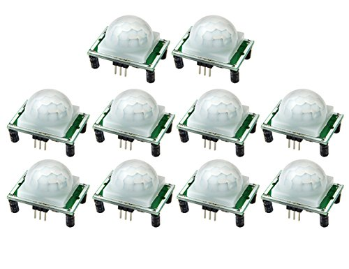 (WMYCONGCONG 10 PCS HC-SR501 Pyroelectric Infrared PIR Motion Sensor Module Detector)