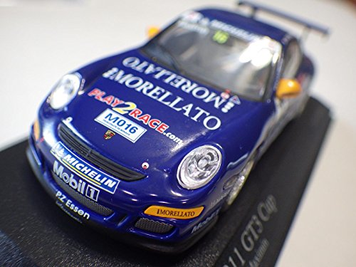 Paul's Model Art Blue Porsche 911 GT3 Morellato Porsche Super Cup 2006 1:43 Nib