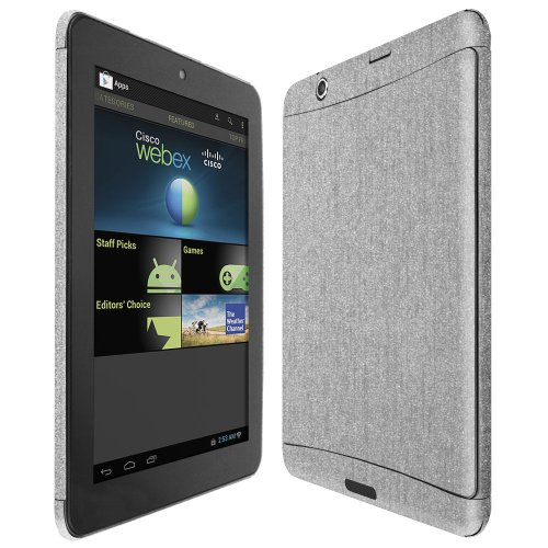 Skinomi Nextbook 8 Screen Protector   Brushed Aluminum Full Body, TechSkin Brushed Aluminum Skin for Nextbook 8 with Anti-Bubble Clear Film Screen